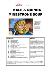 Kale & Quinoa Minestrone Soup