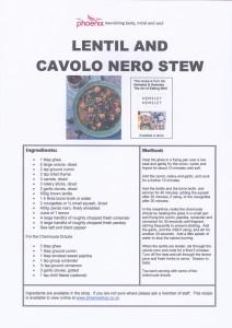 LENTIL AND CAVOLO NERO STEW